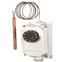 Thermostat a bulbe et capillaire en boitier étanche